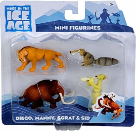 Ice Age Continental Drift - Mini figures 4-Pack: Diego,Scrat,Sid,Manny