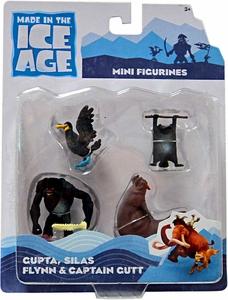 Ice Age Continental Drift - Mini figures 4-Pack: Cupta, Silas, Flynn, Captain Gutt