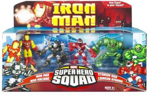 Iron Man Super Hero Squad: Villains 4-Pack - Iron Man, War Machine, Titanium Man, Crimson Dynamo