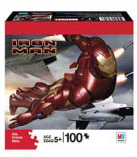 Iron Man 100-Piece Puzzle Flying