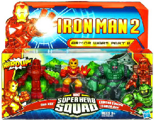 Iron Man 2 Super Hero Squad: Armor Wars Part II - Iron Man Prototype, Crimson Dynamo, Titanium Man