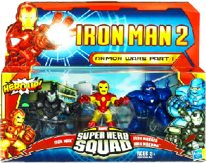 Iron Man 2 Super Hero Squad: Armor Wars Part I - Iron Man, Iron Monger, War Machine