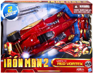Iron Man 2 - Battle Action Vehicle Mark IV Red Vortex