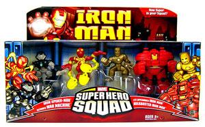 Iron Man Super Hero Squad: The Genius Of Tony Stark 4-Pack