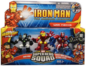 Iron Man  Super Hero Squad: War Mechs - Iron Man, War Machine, Detroit Steel