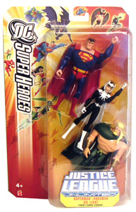 DC Superheroes JLU: Superman, Dr. Light, and Aquaman 3-pack