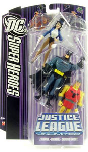 DC Superheroes Purple JLU: Zatanna, Batman, Shining Knight