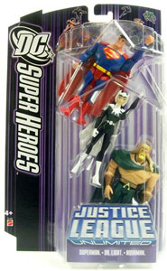 DC Superheroes Purple JLU: Superman, Dr. Light, Aquaman