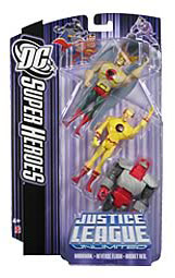 DC Superheroes 3-Pack Purple: Hawkman, Rocket Red, Justice Lord Flash