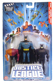 Justice League Unlimited 3-Pack: Batman, Metamorpho, Wildcat