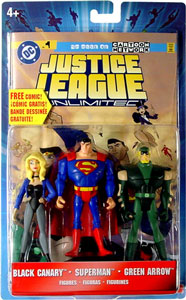 Justice League Unlimited 3-Pack: Black Canary, Superman, Green Arrow