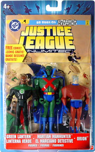Justice League Unlimited 3-Pack: Green Lantern, Martian Manhunter, Orion