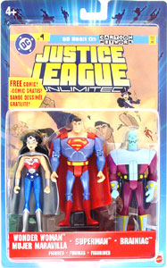 Justice League Unlimited: Wonder Woman, Superman, Brainiac