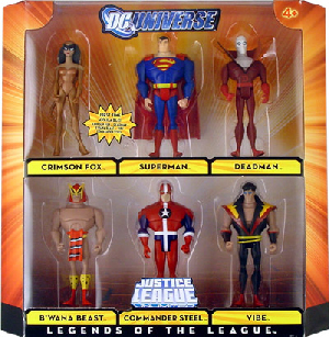 DC Universe - JLU - Legends of the League[Crimson Fox, Superman, Deadman, B Wana Beast, Commader Steel, Vibe]