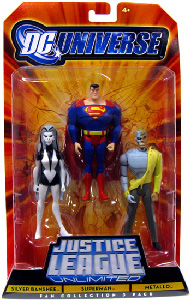 DC Universe - Justice League Unlimited - Silver Banshee, Superman, Metallo
