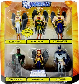 DC Universe - Justice League Unlimited - Attack From Thanagar[Paran Dul, Hro Talak, Lt Kragger, John Stewart, Hawkgirl, Batman]