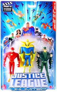 Justice League Unlimited 3-Pack: The Flash, Dr.Fate, Green Arrow