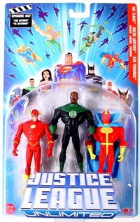 Justice League Unlimited 3-Pack: The Flash, Green Lantern, Red Tornado