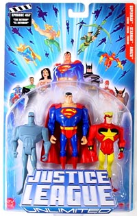 Justice League Unlimited 3-Pack: Superman, Starman, Amazo