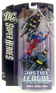 DC Superheroes Purple JLU: Batman, Atom, Huntress