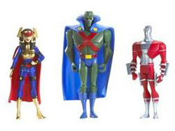 DC Superheroes 3-Pack Purple: Martian Manhunter, Deadshot, Big Barda