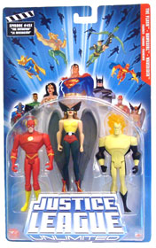 Justice League Unlimited 3-Pack: The Flash, Hawkgirl, Waverider