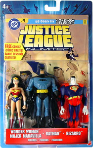 Justice League Unlimited 3-Pack: Wonder Woman, Batman, Bizarro