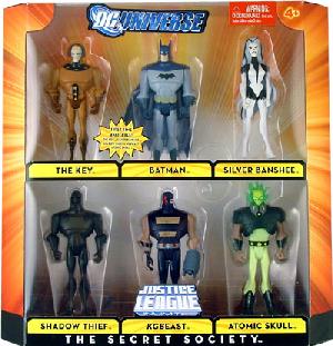 DC Universe - JLU - The Secret Society[The Key, Batman, Silver Banshee, Shadow Thief, KGBeast, Atomic Skull]