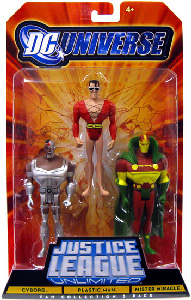 DC Universe - Justice League Unlimited - Cyborg, Plastic Man, Mister Miracle
