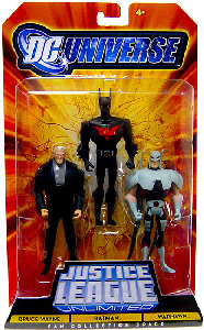 DC Universe - Justice League Unlimited - Bruce Wayne, Batman Beyond, Warhawk