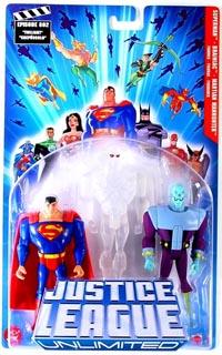 Justice League Unlimited 3-Pack: Superman, Brainiac, Clear Martian Manhunter
