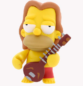 4-Inch Kidrobot Simpsons - Hippie Homer