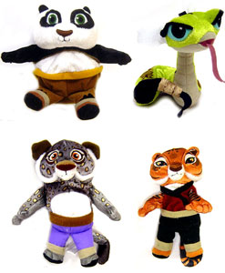 Kung Fu Panda 4-Inch Plush Set of 4