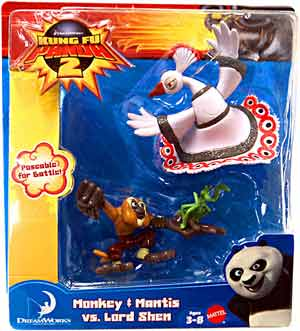 Kung Fu Panda 2 - 2-Pack - Monkey and Mantis VS Lord Shen