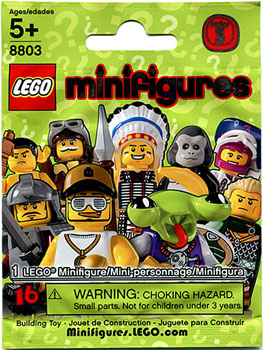 LEGO Minifigure Series 3 Mystery Bag Pack[5 pack]