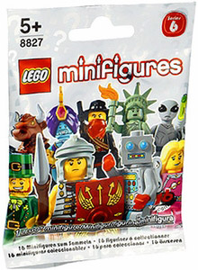 LEGO Minifigure Series 6 Mystery Bag Pack (1 Random Mini Figure) - 10 PACK