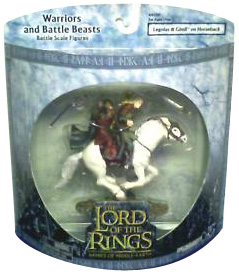 LOTR 3-inch AOME: Legolas and Gimli on Horseback