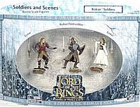 LOTR 3-inch:Eomer, Rohan Foot Soldier and Eowyn