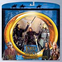Aragorn, Legolas and Gimli in Freedom to Edoras
