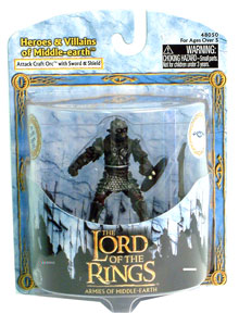 LOTR 3-inch: Attack Craft Orc with Sword & Shield