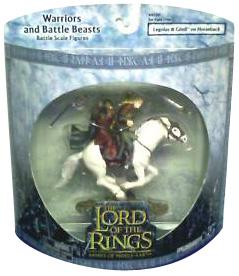 LOTR 3-inch AOME: Legolas and Gimli on Horseback