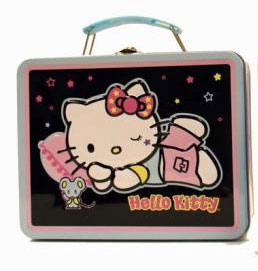 Lunchbox - Hello Kitty Black and Pink