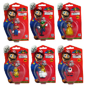 4-Inch Super Mario PVC Vinyl Series 2 set of 6
