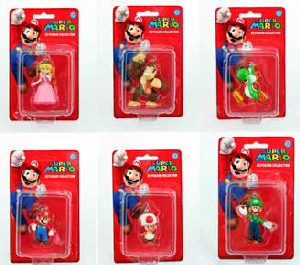 Super Mario Keychain - Set of 6