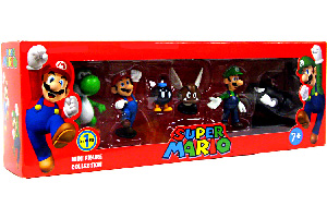 Super Mario Mini Figure Collection Series 1 [Mario, Luigi, Yoshi, Paragoomba, Bullet Bill, Bob-omb]