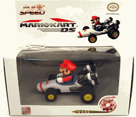 Mario Kart DS 3-Inch Vehicle Figure Pull Speed - Mario