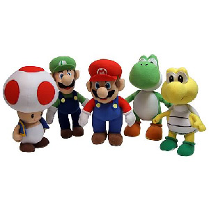 6-Inch Nintendo Super Mario Plush Series 2 Set of 5
