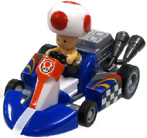 Mario Kart 1.5-Inch Toad Pull Back Racer