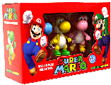 4-Inch Super Mario PVC Vinyl - Yoshi 3-Pack[Blue, Yellow, Pink]