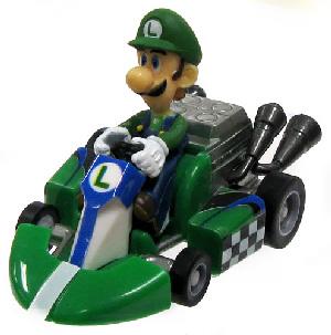 Mario Kart 1.5-Inch Luigi Pull Back Racer